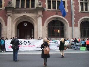 Protest vor der rumänischen Botschaft